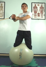 Paul demonstrates here a full body exercise working on his balance & concentration